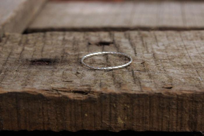 anneau torsadé